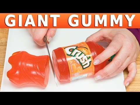 How to a Make Giant Gummy Cola Bottle (Coca Cola, Crush, Sprite, Rootbeer) from Cupcakes and Cardio
