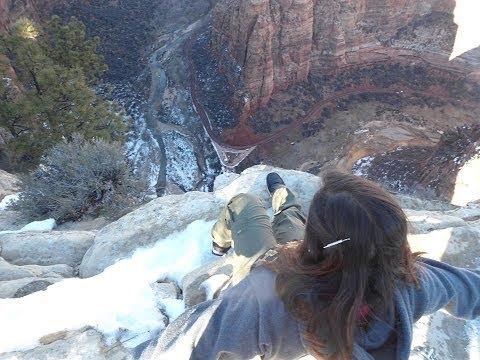 Scary Winter Trek - Zion National Park - Angles landing Utah