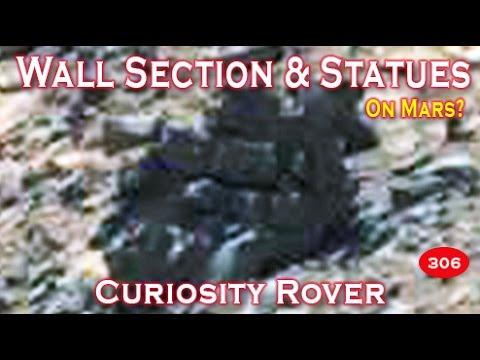 Destroyed Wall & Amazing Statues Imaged By NASA Curiosity Rover On Mars!
