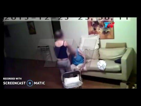 Filmaron a una cuidadora golpeando a una abuela enferma