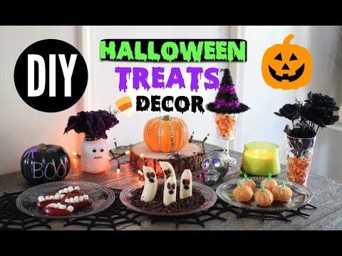 DIY Halloween Snacks & Decor ♡ Quick+ Easy Party Treats