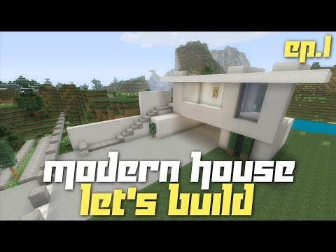 Minecraft Xbox 360: Lets Build a Modern House City Texture Pack Ep.1