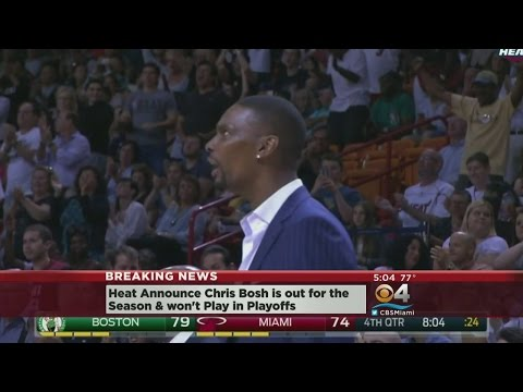 Heat Announce Chris Bosh Officially Out For Playoffs