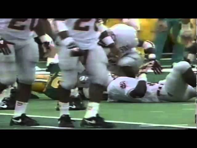Oregon RB Sean Burwell 14 yard gain on screen pass vs. WSU 9-07-1991