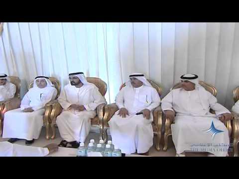 محمد بن راشد يعزي بوفاة سعيد عبد الله بن ثاني