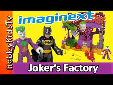 Imaginext Joker's Laff Factory Batman DC Friends Surprise Play-Doh Egg HobbyKidsTV #HKTV