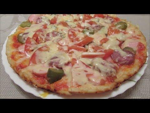 Пицца в домашних условиях с майонезом