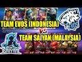 WOW SERU !!! Team EVOS (INDONESIA) VS Team SAIYAN (MALAYSIA) Mobile Legends