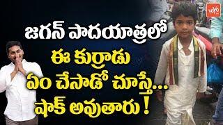 జగన్ పాదయాత్రలో ఈ కుర్రాడు ఏం చేసాడో చూస్తే... షాక్ అవుతారు! | YS Jagan Padayatra