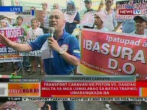 BT: Transport caravan ng Piston vs dagdag multa sa mga lumalabag sa batas trapiko, umarangkada na