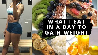 WHAT I EAT IN A DAY TO GAIN WEIGHT | 2600 CALORIES HEALTHY EATS