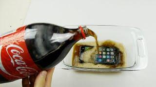 ماذا يحدث عند تجميد «آي فون 7» في الكوكاكولا: مشهد يثير الدهشة