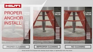 Hilti HIT-HY 200 proper adhesive anchor installation