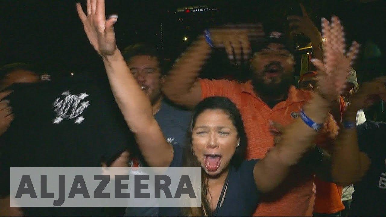 Houston residents celebrate Astros World Series 2017 victory