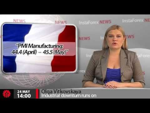 InstaForex News 24 May.  Industrial downturn in leading eurozone countries runs on