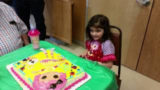 Carmen's 5th birthday party, happy birthday song