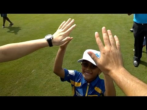 England play cricket with Colombo kids - Alastair Cook wears Google Glass