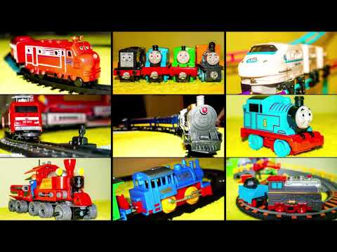 VIDEO FOR CHILDREN – «Rapid Transit» Children's Model Railway with Bridge and White Toy Train