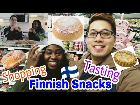 Vlog: Shopping And Tasting Finnish Snacks and Desserts
