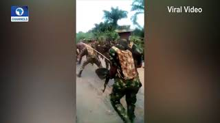 Unverified Video Of Army Allegedly Brutalising IPOB Members