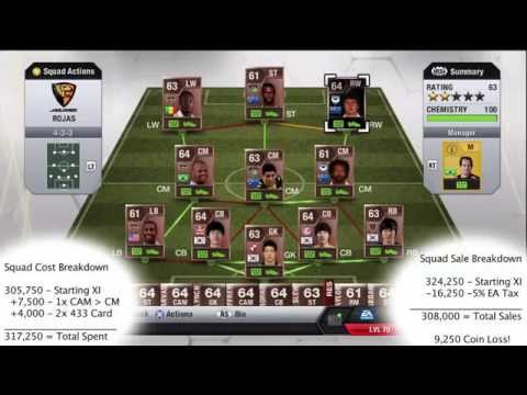 IF ROJAS 300k Bronze Squad builder & In-Game Stats! FIFA 13 Ultimate Team