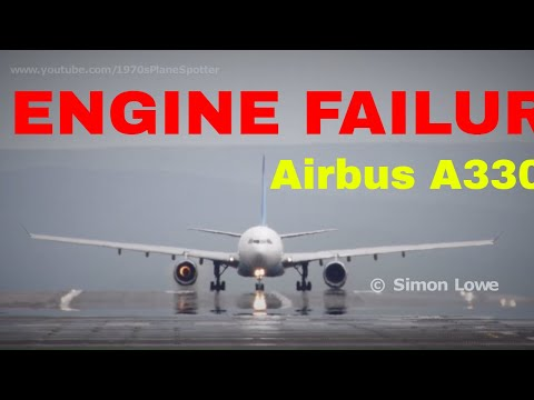 Jet engine explodes on runway Airbus A330.