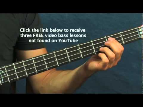 Easy Bass Guitar Lesson 5 Rock Songs For Beginners Aqualung Money Beat It Offspring video