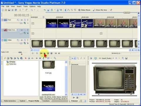 Video overlay in Sony Vegas Movie Studio
