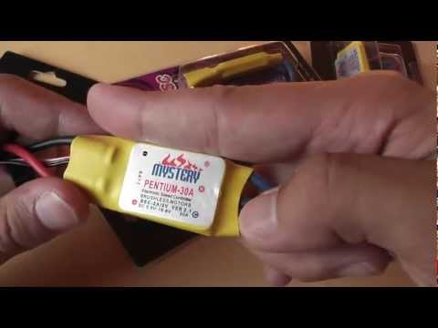 Mystery 30A Brushless Motor Speed Controller RC ESC - unboxing and soldering