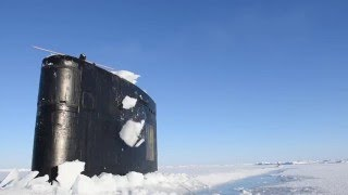 USS Hartford (SSN 768) surfaces at the Arctic circle for ICEX 2016