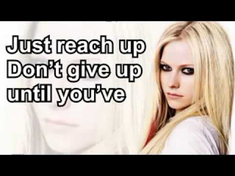 Avril Lavigne - Fly - Lyrics On Screen (HQ)