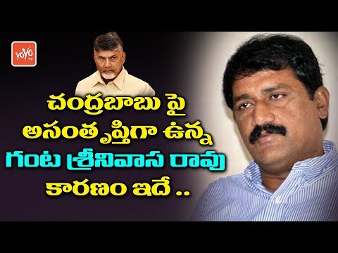 Minister Ganta Srinivasa Rao Unhappy on CM Chandrababu Behaviour | AP Politics | YOYO TV NEWS