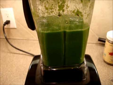 0 Green Smoothie in Vitamix   Vitamix 5200 Demo   Antioxidant fruits