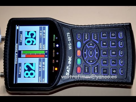 Medidor de campo SATLINK WS 6979 TDT SAT HD Espectrum