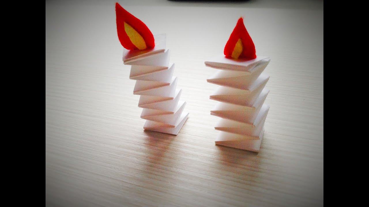Как сделать свечку из бумаги своими руками