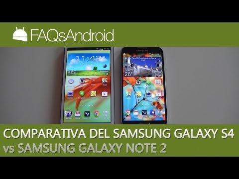 Comparativa Samsung Galaxy S4 vs Samsung Galaxy Note 2   FAQsAndroid.com