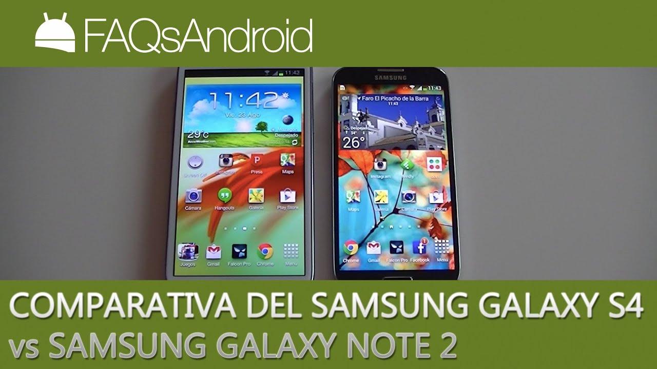 Comparativa Samsung Galaxy S4 vs Samsung Galaxy Note 2 ...