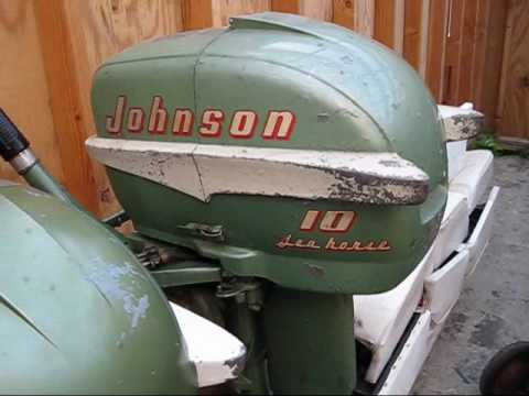 1955 Johnson Outboards Lineup 3 5 5 And 10 Hp Youtube