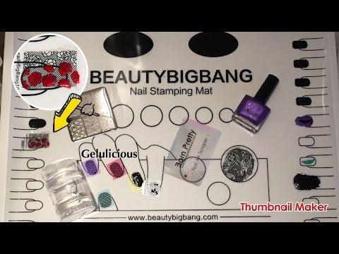 BeautyBigbang   XL Silicone Nail Art Mat   Review & Demonstration
