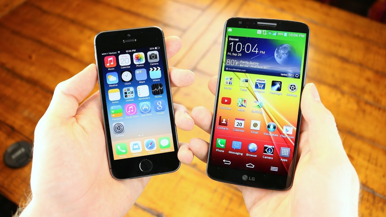 iPhone 5s vs. LG G2 - Speed Test! - YouTube