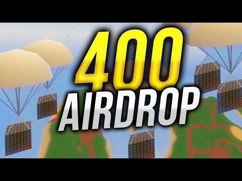 Что будет если вызвать 400 Аирдропов Unturned
