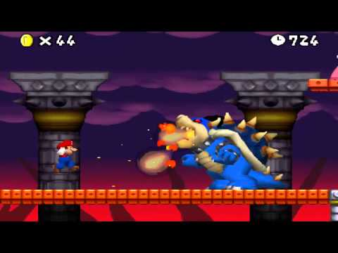 New Super Mario Bros. The Lost Levels - NSMB hack (Final Boss, Dark Bowser)