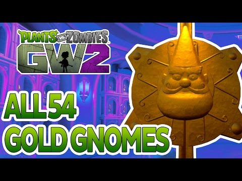Plants Vs Zombies Garden Warfare 2: All 54 Golden Gnome Loca