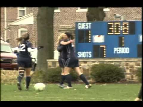 TV2 sports Moravian College women's soccer vs. Lebanon Valley College in ECAC quarterfinals 2012