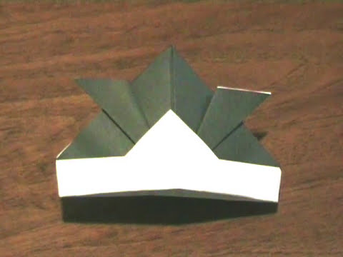 How to make an Origami Kabuto / Battle Samurai Helmet for Children's Day (Japan) ...for all - 32
