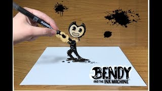 Bendy and the Ink Machine 3D Art ( Optical Illusion )