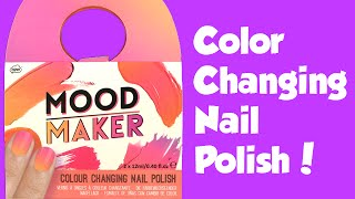 Mood Maker Color Change Polish Pink and Orange - Toy Reviews For You