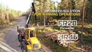 Sampo Rosenlew HR46 Harvester & FR28 Forwarder