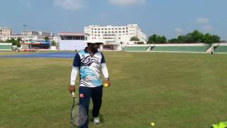 Wicket keeping catching practice with tennis ball
