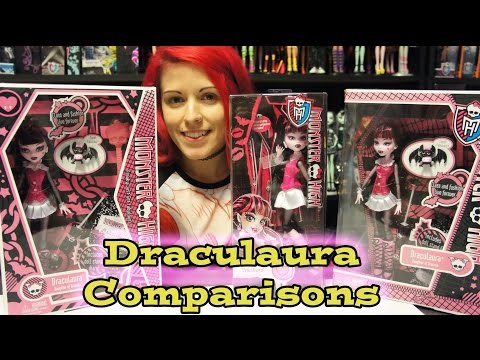 Monster High Original Ghouls Draculaura In box Comparison Review
